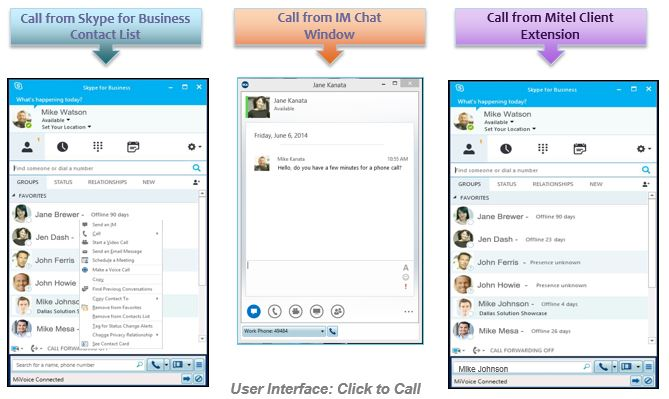 Mitel MiVoice for Skype for Business